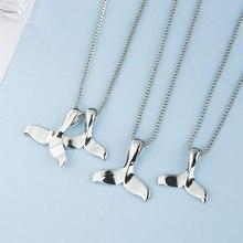 Creative Beautiful Mermaid Fishtail Lady Necklace Personality Alloy Dolphin Tail Pendant Choker Fashion Jewelry Gifts
