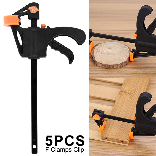 4-12 Inch Wood Working Bar F Clamp Grip Ratchet Release Squeeze DIY Stainless .
