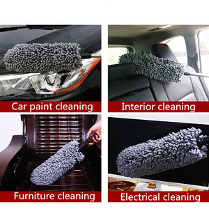 Image 5 - Retractable Microfiber Car Wax Brush Multifunction Car Duster Removing Cheaner For Furniture Cleaning Tool Microfiber Car Washer