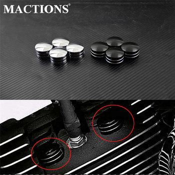 Motorcycle Spark Plug Head Bolt Cap Cover Black/Chrome For Harley Twin Cam Touring 1999-2017 Sportster XL 883 1200 48 72