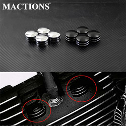 Motorcycle Spark Plug Head Bolt Cap Cover Plug Black/Chrome For Harley Twin Cam Touring 1999-2017 Sportster XL 883 1200 48 72