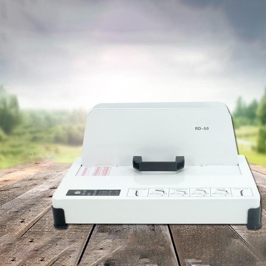 220V 300W Automatic Hot Melt Binding machine A3 A4 A5 A6 Book Envelope Document Desktop Binder 50mm Binding Thickness RD-50