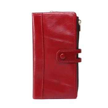 Unisex Wallet Men's Women's Wallet Genuine Leather Purse Clutch CellPhone Clutch Card Holder Cowhide Wallet Fashion Purse RFID фото