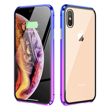 360 Full Body Protective Case For iPhone XS Max X S Magnetic Frame Front Touch Tempered Glass Covers iPhonexs Cases iPhonex