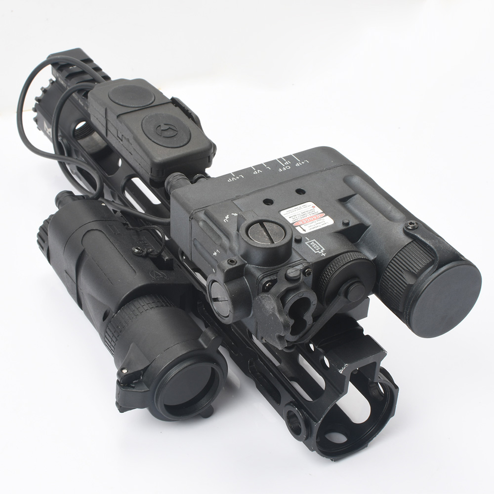 WADSN Tactical Scout Light DBAL-D2 Red Dot/IR LASER White LED PEQ Dual Control Pressure Switch M3X Infrared Filter Weapon Light