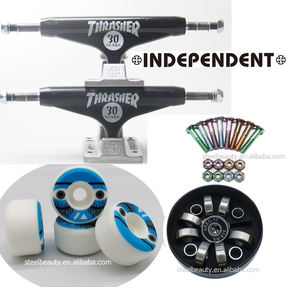 Independent skateboard trucks skateboard wheels skate bearings and screws dish good quality professional level