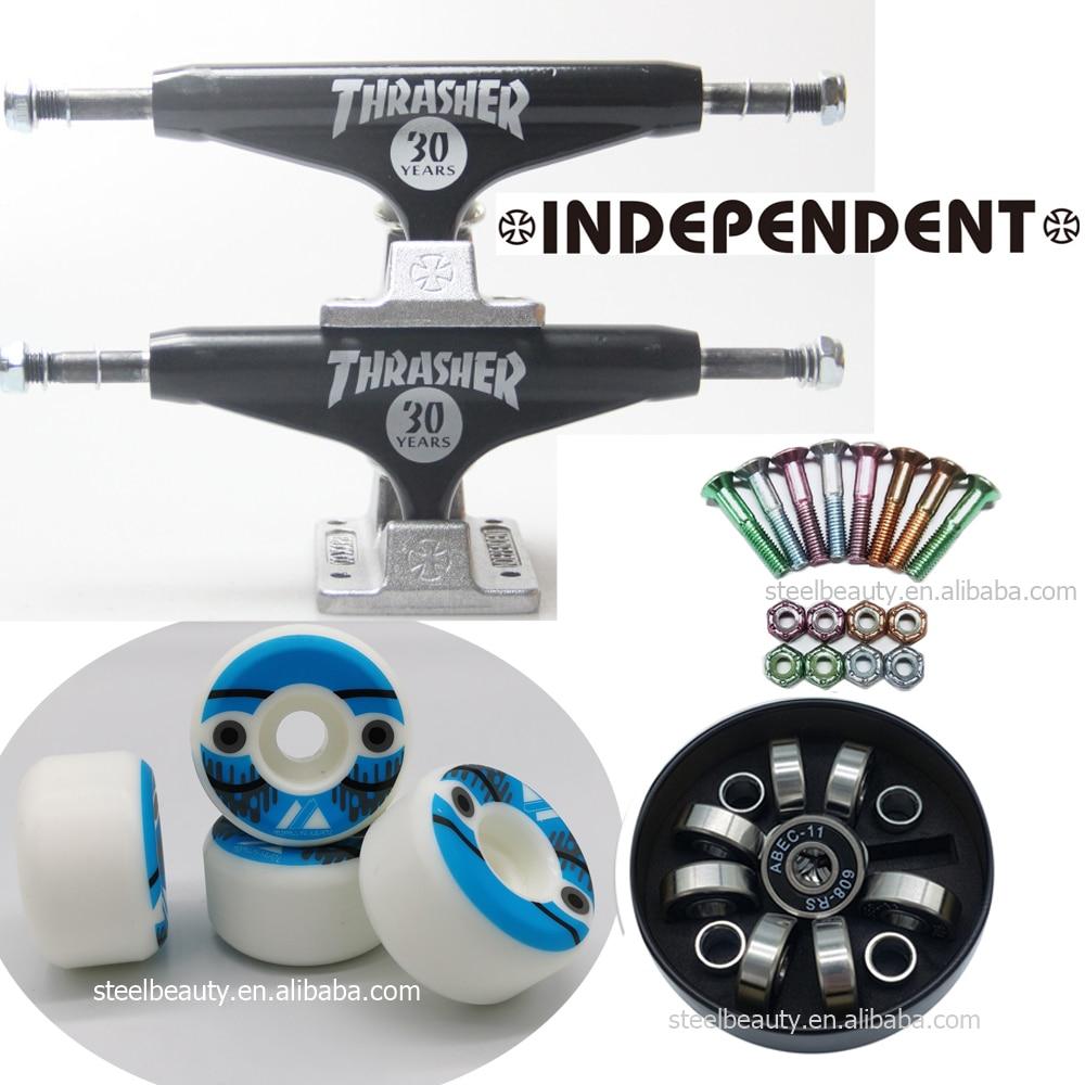 Independent Skateboard Trucks Skateboard Wheels Skate Bearings And Screws Dish Good Quality Professional Level