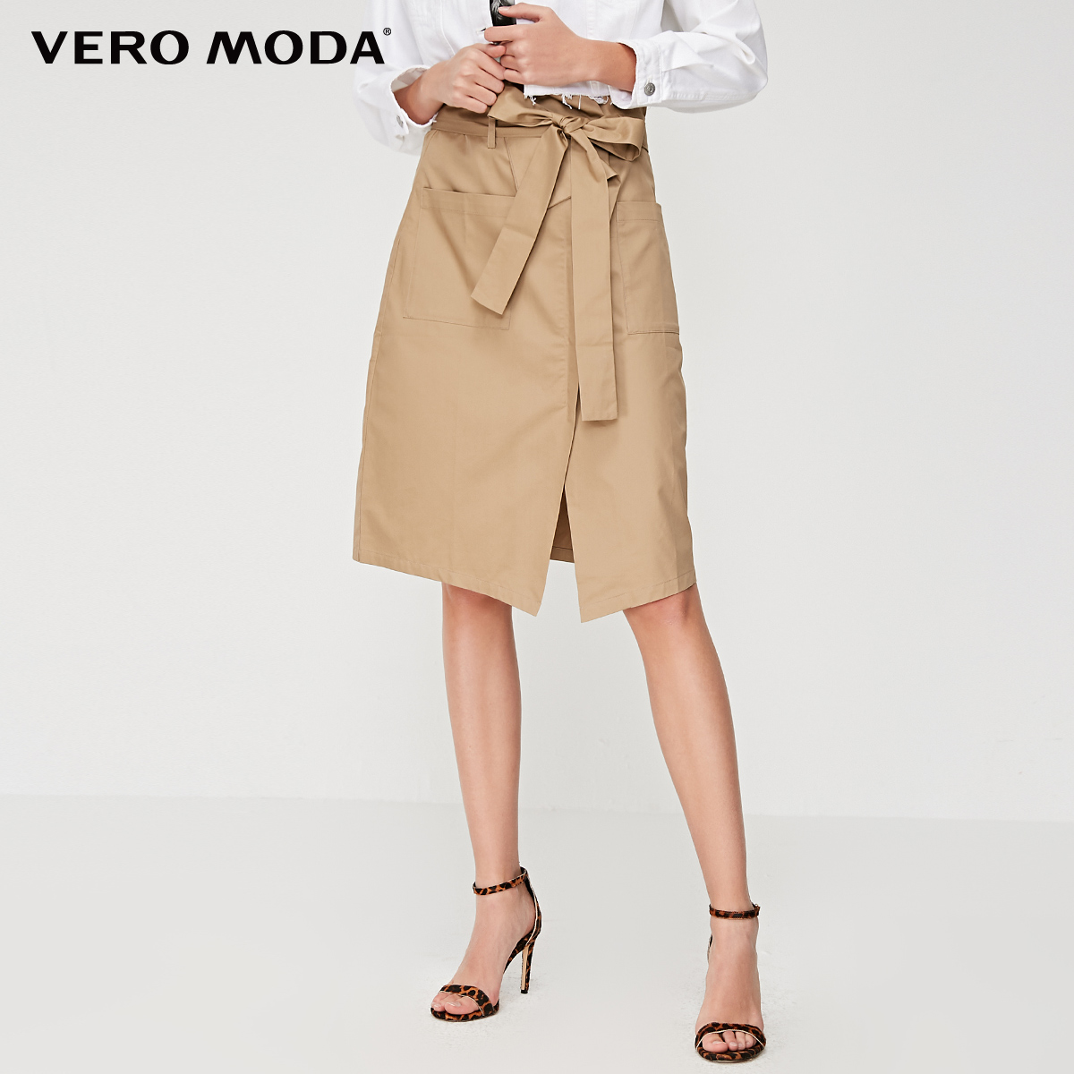 Vero Moda Women's 100% Cotton Lace-up Skirt | 319216531