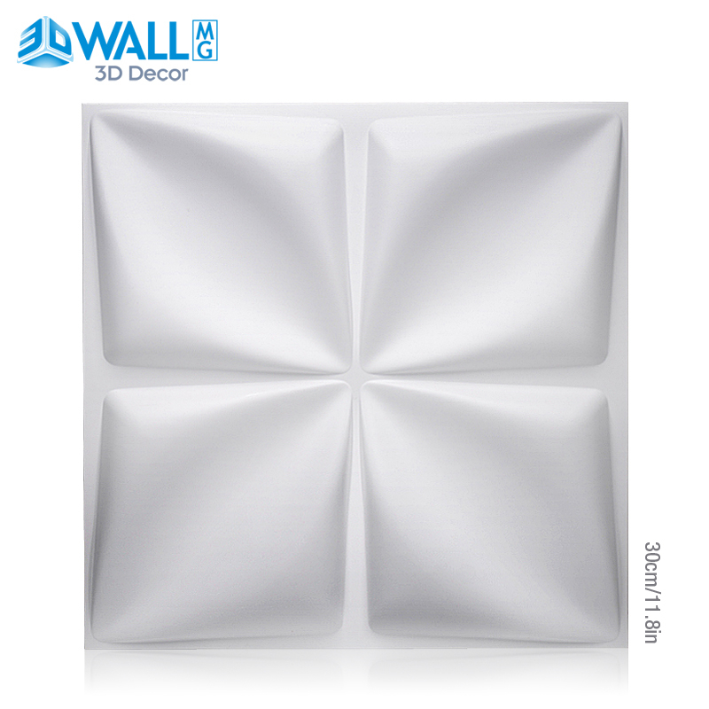 30x30cm Plant Fiber 3D Wall Panel 3D Wall Sticker Geometric Diamond Design House Interior Wall Decor Wedding Party Room Decor