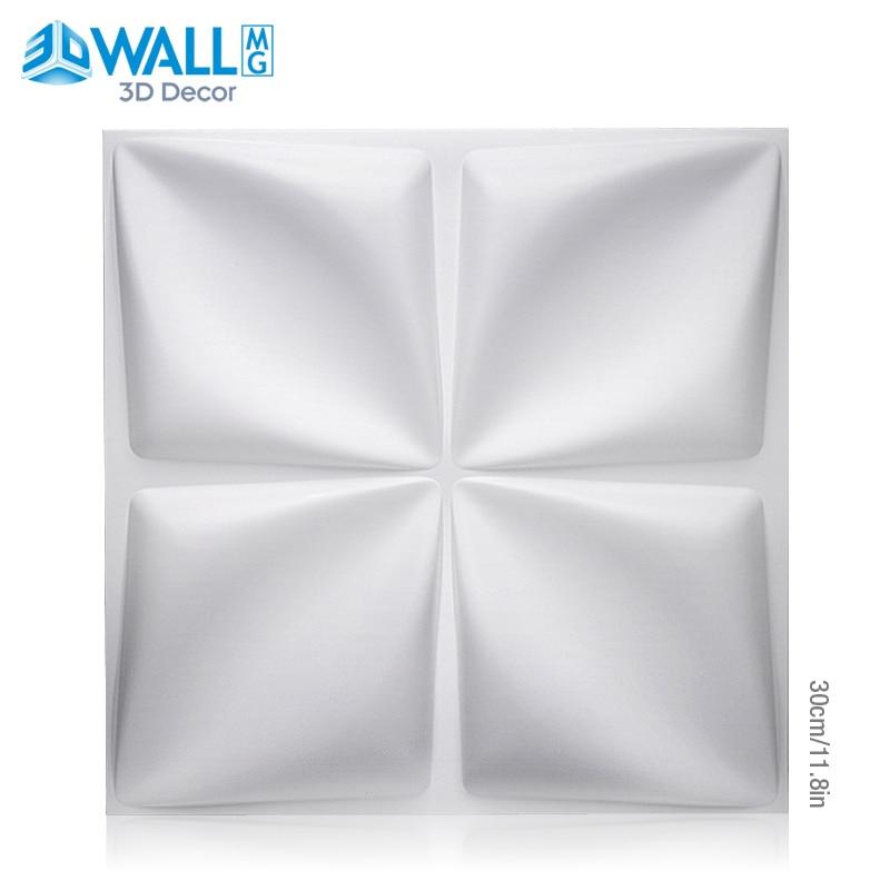 30x30cm Plant Fiber 3D Wall Panel 3D Wall Sticker Geometric Diamond Design House Interior Wall Decor Wedding Party Room Decor