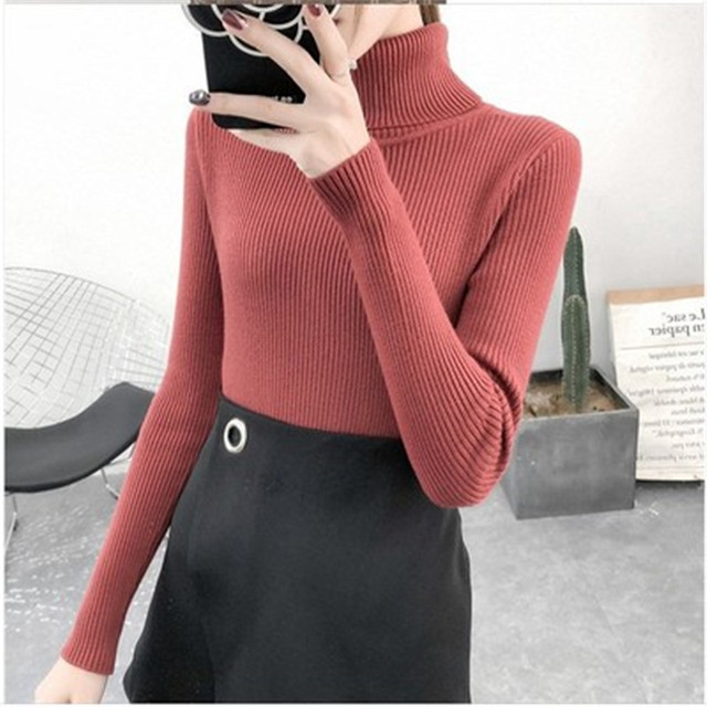 Women Sweaters Autumn Winter Tops Korean Slim Women Pullover Knitted Sweater Jumper Soft Warm Pull Femme 4