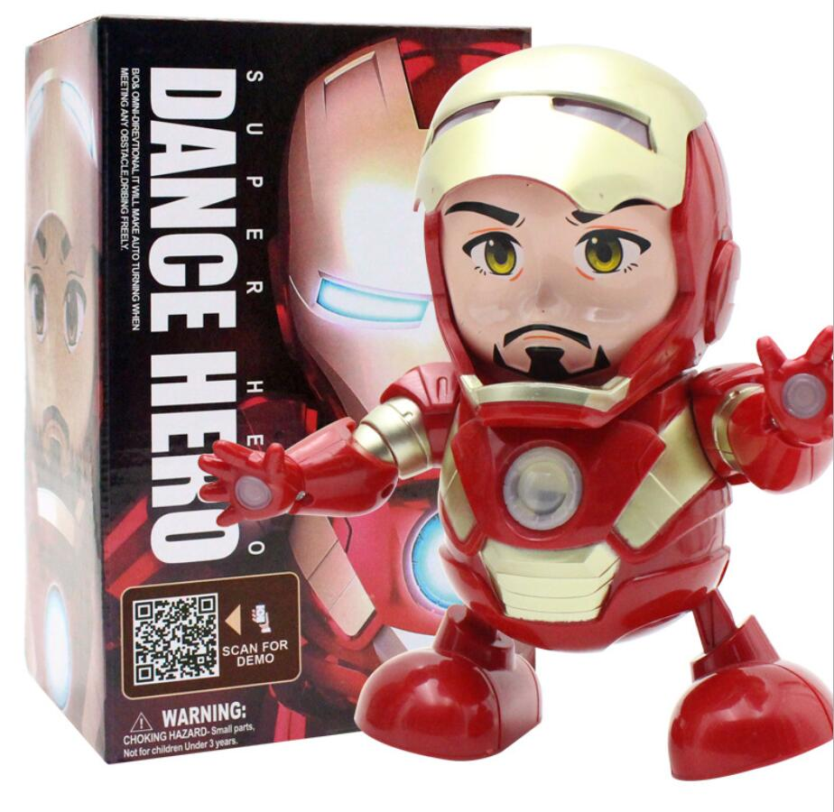 Iron Man Dancing Robot with Light and Music Electronic Robot for Children Gift D