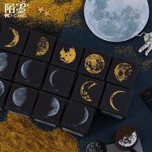 Ретро Серия фаз Луны, декоративный штамп, деревянные круглые резиновые штампы для скрапбукинга, канцелярские принадлежности, сделай сам, ремесло, стандартное уплотнение