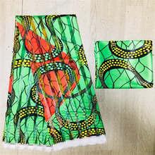 Organz silk wax fabric african fabric for dress african silk ankara Fabric high quality 2021 latest satin wax for Garme ! L30389