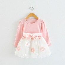 С длинным рукавом для девочки на 1 год детское платье для дня рождения от 0 до 2 лет Одежда для новорожденных; платья для крестин; зимняя одежда для девочек Повседневная одежда vestido infantil