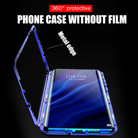 Cases For Huawei P30 P20 Lite Mate 20 Pro P Smart 2019 Case Magnetic Adsorption Metal Tempered Glass Back Cover For Huawei P30 Lahore