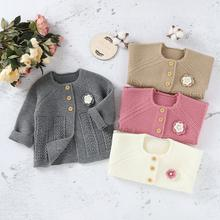 Baby Sweaters Knitted Autumn Winter Warm Newborn Girls Jackets Coats Long Sleeve Button Up Infant Kids Knitwear Tops Clothes 0-2 autumn winter chidlren sweaters for newborn baby girls cardigans fashion white long sleeve toddler infant knitted jacket clothes