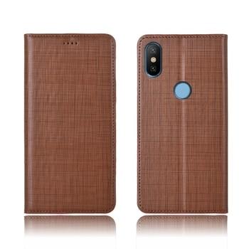 Genuine leather magnetic case credit card slot holder for Xiaomi Mi6X Mi A2 phone case for Xiaomi Mi6 flip card cover funda capa