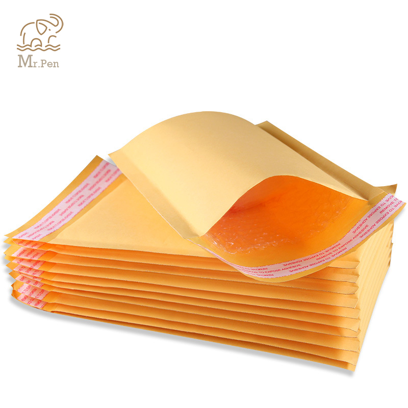 20 PCS 14*16cm+4cm Kraft Paper Bubble Envelopes Bags Mailers Padded Shipping Envelope With Bubble Anti-shock Anti-pressure