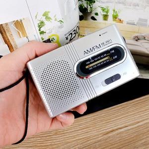 Image 4 - Mini Portatile AM/FM Radio Antenna Telescopica Radio Tasca Del Mondo Ricevitore Speaker Radio Portatile Outdoor di Colore Argento