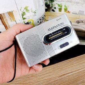 Image 4 - Mini Tragbare AM/FM Radio Teleskop Antenne Radio Tasche Welt Empfänger Lautsprecher Tragbare Radio Outdoor Silber Farbe