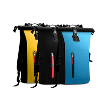 PVC beach waterproof dry bag outdoor sports swimming drifting kayak sailing bucket 25L men and women portable backpack