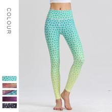 Sports Leggings Yoga-Pants Trousers Gym Tight Printed Women Running High-Stretchy