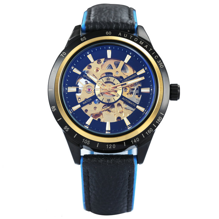 NEW LEATHER BLK BLUE