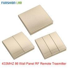 FUNSHION 433 Mhz אלחוטי RF קיר פנל משדר RF AC 110V 220V 1 CH שלט רחוק מתג מקלט עבור אולם חדר שינה אורות