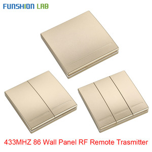 Image 1 - FUNSHION 433 Mhz Wireless RF Wall Panel Transmitter RF AC 110V 220V 1 CH Remote Control Switch Receiver For Hall Bedroom Lights