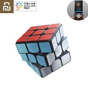 Original Xiaomi Mijia Bluetooth Magic Cube Smart Gateway Rubik Puzzles Educational Toys for Kids Adult Work(China)