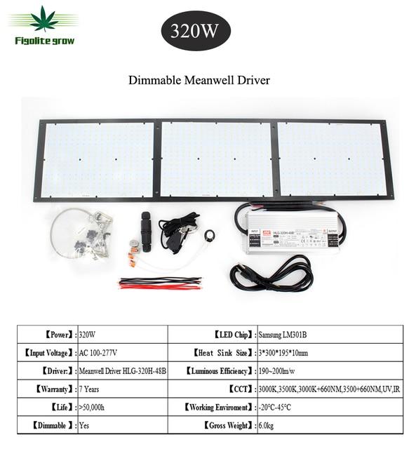 최신 양자 삼성 led 보드 QB288 성장 빛 Dimmable 320W 480W LM301B 칩 믹스 660NM, 레드 UV IR, 7 년 보증