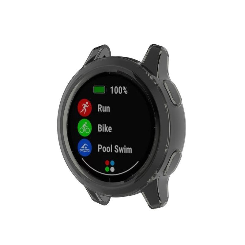 Ultra-Slim Clear Watch Case Protective Cover For Garmin Vivoactive 4 / Active PXPE
