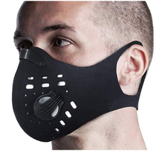 Dust Mask Mouth Respirator with 4 Carbon N99 Filters for Pollution Cycling mask Breathable Neoprene back Half Face