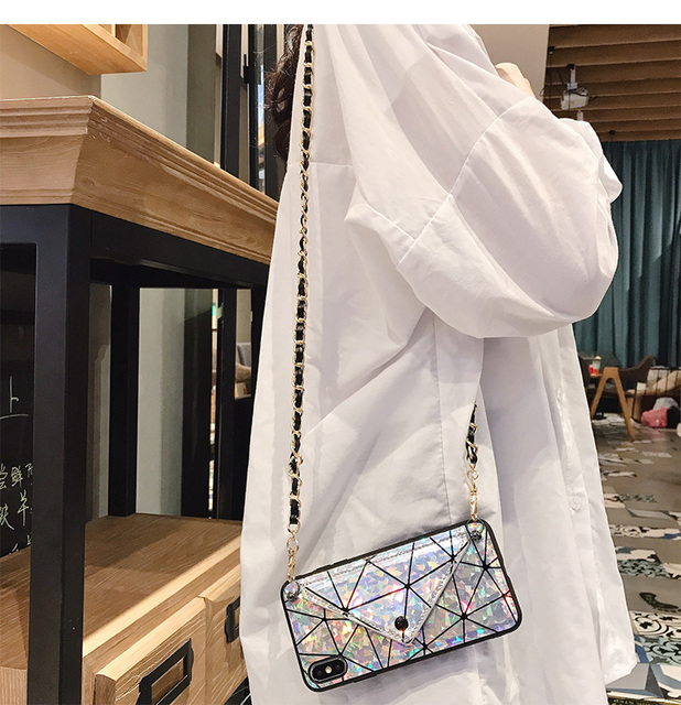 Credit Card Slot Phone Wallet Case Crossbody with Strap Long Chain For iPhone 11 PRO XS Max 7 8 6s 6 Plus X XR Cover Pouch Purse