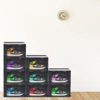 Shoe Box Side Magnet Suction Transparent Basketball Shoe Cabinet Dormitory Collection Dust Proof Plastic Shoe Storage Boxes