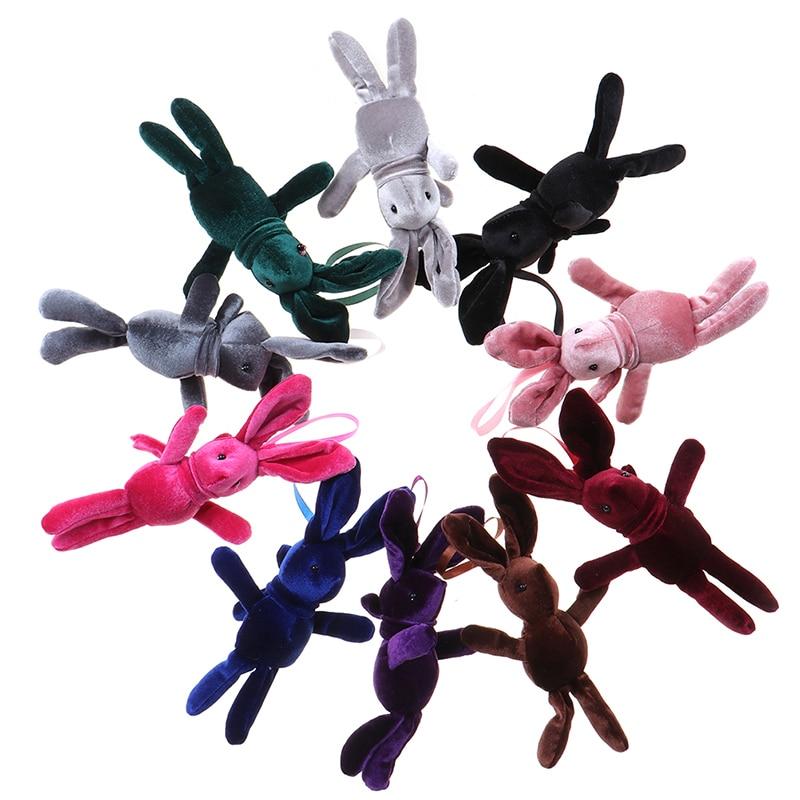 Kid's Party Plush TOY  Bouquet Plush Dolls NEW Long Legs Rabbit Plush Animal Stuffed Dress Rabbit Key chain TOY
