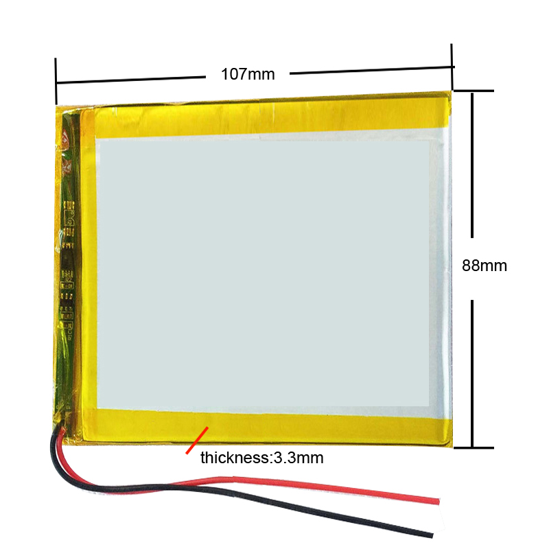 3090100 3088107 3.7V Lithium polymer Battery with Protection Board For PDA Tablet PCs Digital Products 3x90x100mm <font><b>4000</b></font> <font><b>mAh</b></font> image