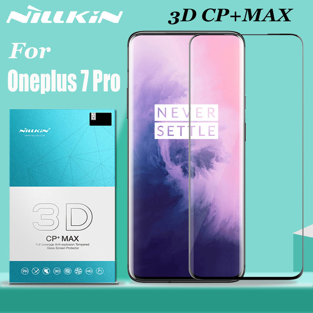 Oneplus 7 7T Pro Tempered Glass Screen Protector Nillkin 3D Full Coverage Glass Safety Protective Glass For One Plus 7 7T Pro
