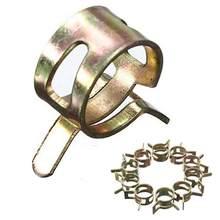 10 sztuk/zestaw opaska sprężynująca wąż paliwowy klipy rura silikonowa zacisk wielokrotnego użytku opcjonalny zacisk 6mm 7mm 8mm 9mm 10mm 11mm 12mm 13mm 14mm 15mm