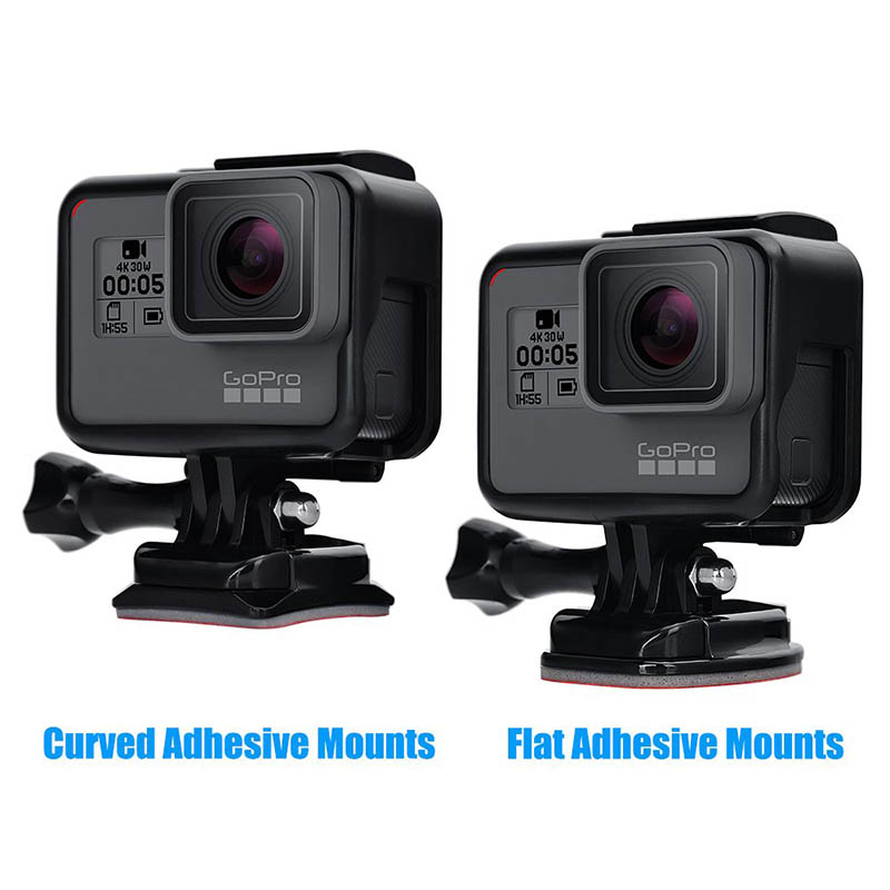 Adhesive Mounts For GoPro 7 6 5 4 3 Curved Flat Mounts 3M Sticky Pads for Go Pro Xiaomi Yi SJCAM Action Camera Helmet Board Car-4