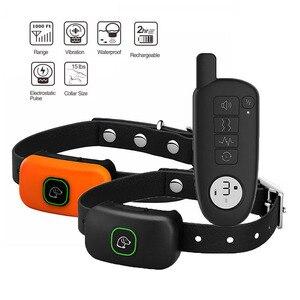 Image 5 - تعزيز الكلب طوق تدريب قابلة للشحن صدمة كهربائية الاهتزاز الصوت للكلاب الكبيرة الصغيرة IP67 النباح طوق تدريب الكلاب