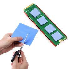 100 мм x 100 мм x 0,5 мм 1 лист/100 шт термопрокладка GPU cpu теплоотвод охлаждающая проводящая силиконовая прокладка