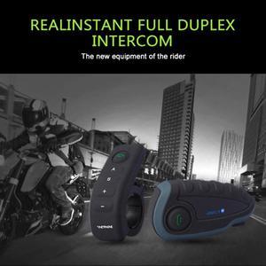 Image 4 - Bluetooth ヘッドセットリモートコントロールハンドル NFC マッチ携帯電話オートバイ BT ワイヤレスインターホン FM V8 5 ライダーヘルメット