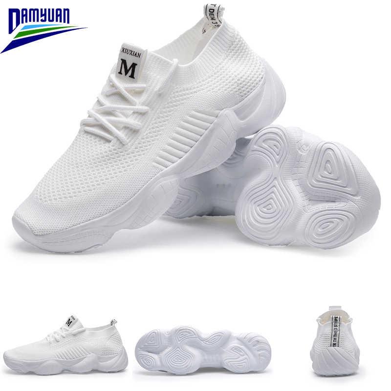 Damyuan Lace Up kadın ayakkabısı 2020 yeni eğlence ayakkabı Zapatos De Mujer yaz nefes sevgilisi ayakkabı kadın koşu mokasen