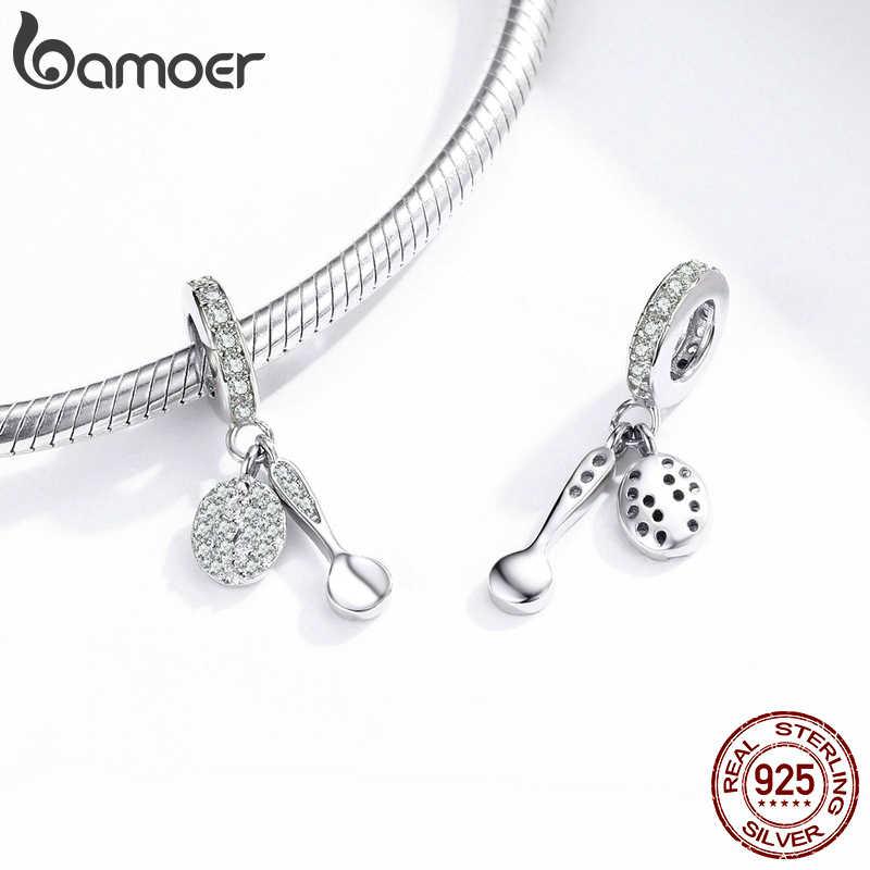 Bamoer takılar gümüş 925 orijinal kolye Charm bilezik için kahve çekirdeği Bedels kolye moda takı aksesuarları BSC171