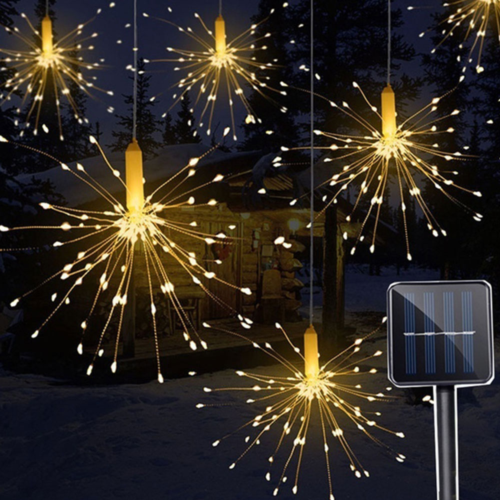 120/150LED RC Solar Light Garden/Yard Silver String Lights Landscape Lamp Multicolor Warm/White Festival Outdoor Xmas Decoration