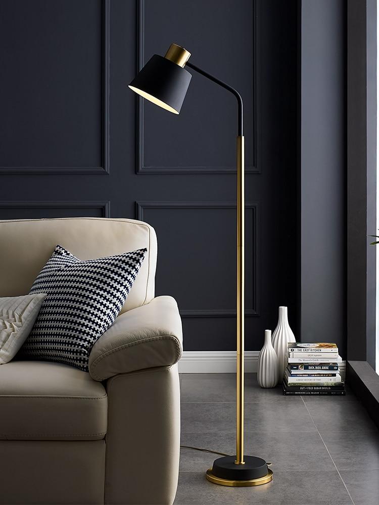 Современный светодиодный напольный светильник, вертикальный, золотой/черный, стабильный, вертикальный, вертикальный, светильник для