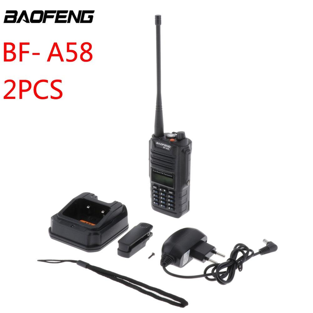 2 шт 5 Вт Baofeng BF-A58 Walkie Talkie IP67 водонепроницаемый двухдиапазонный 65 МГц-108 МГц/136 МГц-174 МГц Ham Radio Walkie Talkie 10 км BF-A58