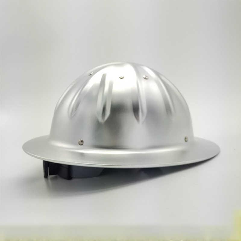 In lega di alluminio di Sicurezza Casco Tesa Larga Cappello Duro Ad Alta Resistenza Leggero Per La Costruzione Metallurgia Ferroviaria Miniera tappo Lavoro